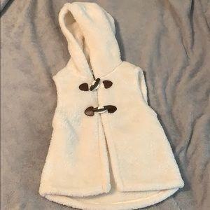 Old Navy-  girls cream vest.
